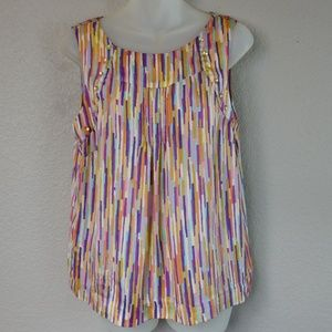 Leifsdottir Anthropologie Sleeveless Silk Top